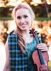 Joanna Johnson, reigning National Scottish Fiddling Champion