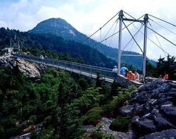 Mile High Swinging Bridge at Grandfather Mountain